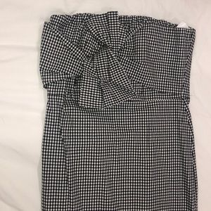 70% Off Leith Strapless Midi Gingham Dress